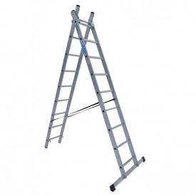 Универсальная раскладная лестница ELKOP VHR T 2x9 алюминиевая