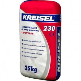 Клей для плит з мінеральної вати Kreisel 230, 25 кг.
