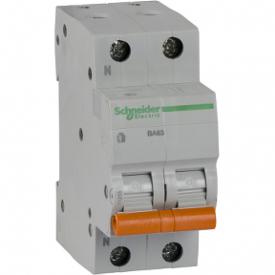 Автоматичний вимикач ВА63 1П+Н 25A C 4,5 кА