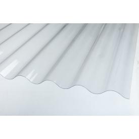 Покрівельний лист ПВХ Salux W 146/48 прозора хвиля 2x1,09 м