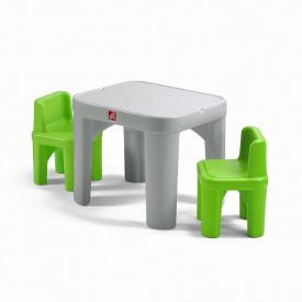 Набор MIGHTY MY SIZE TABLE&CHAIRS из стола 50x35x35 см и 2 стульев 48x64x64 см