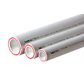 Труба полипропиленовая VALTEC армированная стекловолокном PP-FIBER PN 20 50 мм белый VTp.700.FB20.50