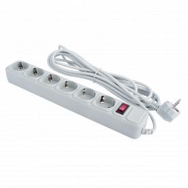 Фільтр-подовжувач мережевий LogicPower Grey LP-X6 6 розеток 4,5 м з заземленням