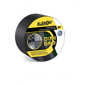Покрівельна герметизуюча стрічка Alenor BF 75 мм 10 м графітова