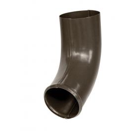 Колено стока Bilka 60 градусов 90 мм темно-коричневое RAL 8019