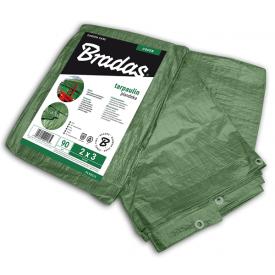 Тент водонепроникний Bradas GREEN 90 г/м2 2x3 м PL902/3