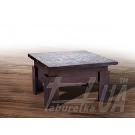 Стол-трансформер Микс мебель Дельта со стеклом
