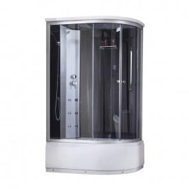 Гидромассажный бокс Lidz Tani SBM120x80L.SAT.HIGH.GR, стекло тонированное 4 мм
