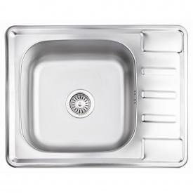 Кухонная мойка Lidz 6350 0,8 мм Satin (LIDZ6350SAT8)