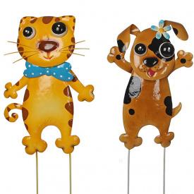Набір садових фігурок Кіт і Пес Greenware