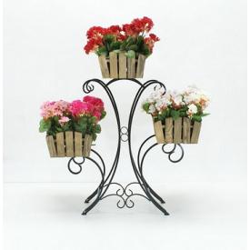 Подставка для цветов Холодная ковка Лотос 3 Кантри