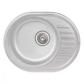 Кухонная мойка Qtap 5745 0,8 мм Satin (QT5745SAT08)