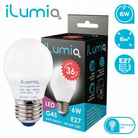 Светодиодная лампа ilumia 073 L-6-G45-E27-NW 450Лм 6Вт 4000К