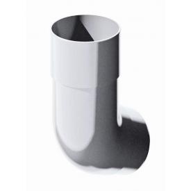 Коліно труби Verat 45 градусів 82 мм біле