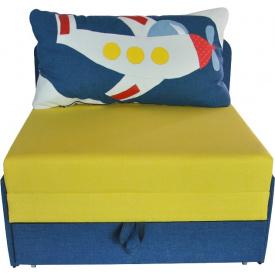 Детский диванчик малютка Ribeka Самолётик Голубой (24M11)