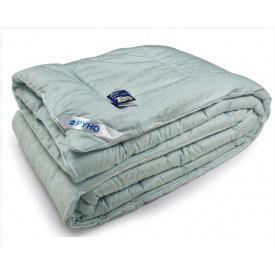 Одеяло шерстяное Руно полуторное жаккардовое голубое 140x205 см