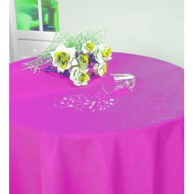 Скатертина Asal водовідштовхувальна овальна 160x220 см Gofra рожева