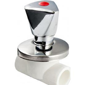 Вентиль VALTEC PPR хромований 25 мм VTp.713.0.025