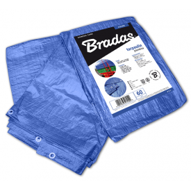 Тент водонепроникний Bradas BLUE 60 г/м2 3x7 м PL3/7