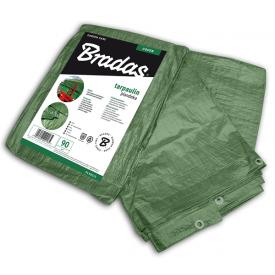 Тент водонепроникний Bradas GREEN 90 г/м2 4x5 м PL904/5