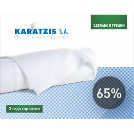 Сітка затінюють KARATZIS біла 65% (2х50м)