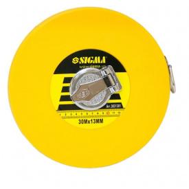 Рулетка скловолокно Sigma 30мх13мм (3831301)