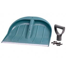 Лопата для уборки снега Grad пластиковая, синяя 435x470x10мм (5049415)