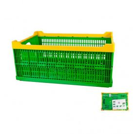 Ящик складной пластиковый MasterTool 600x400x240мм, зеленый (79-3952)