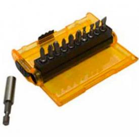 Набор бит DeWALT Extra Grip, Philips, Pozidriv, Slotted, 25 мм, магнитный держатель, 11 шт (DT7915)