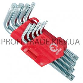 HT-0607 Набір Г-образних ключів TORX 9 шт Т 10-Т 50 Cr-V Small