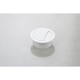 Заглушка під дроти Poliplast кругла d-74/60 білий