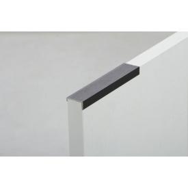 Планка торцевая асимметричная алюминиевая C 181 для плиты 18 мм 5500 мм черный BRUSH