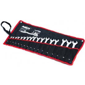 51-716 Набір ключів рожково-накидних сатин 17шт (6-24 мм) в брезенті