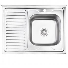 Кухонная мойка Lidz 6080-R 0,8 мм Decor (LIDZ6080RDEC08)