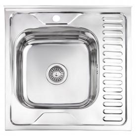 Кухонная мойка Lidz 6060-L 0,6 мм Polish (LIDZ6060LPOL06)
