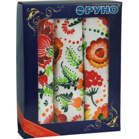 Набор кухонных полотенец Руно в подарочной упаковке Петриковка 35х70 см 3 шт