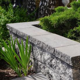 Крышки декоративные на забор 450х250 Золотой Мандарин серый