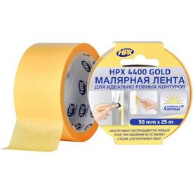 Малярная лента HPX 4400 100С 50 мм 25 м оранжевая FP5025