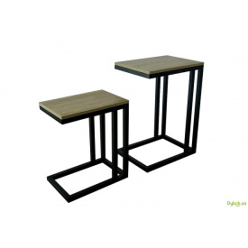 Журнальний столик Кофі брейк 2 в 1 (висота 55+40 см) Метал-Дизайн