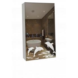 Шкаф-зеркало 40x70x14 см ШК805