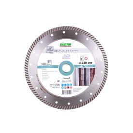 Диск алмазний Distar Turbo 230x2,6x9x22,2 Bestseller Universal для сухого різання середньо армованого бетону