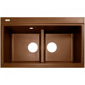Кухонна мийка Adamant SIMILAR 850х510х230, з сифоном, 11 terracotta
