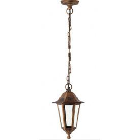 Подвесной садово-парковый светильник на цепочке Lemanso,PL6105 антич.золото