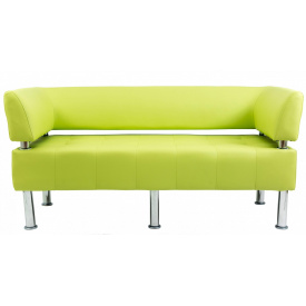 Диван Richman Офис Двойка 1550 x 680 x 750H см Со спинкой и подлокотниками Флай 2234 Зеленый