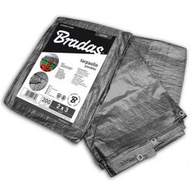 Тент Bradas GRAY 4x6 м 200 г/м2 (PLG2004/6)