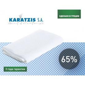 Сетка для затенения KARATZIS белая 65% (4x10м)