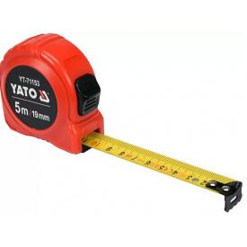 Рулетка YATO 5мx19мм, с двойной блокировкой (YT-71153)