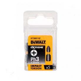 Биты ударные DeWALT IMPACT TORSION EXTREME Ph3, 25 мм, 5 шт (DT7995T)