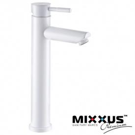 Смеситель для умывальника MIXXUS Sus-001 High White (Chr-001-H), Польша (нержавеющая сталь)