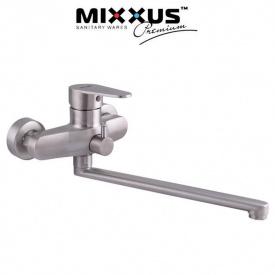 Смеситель для ванны длинный нос MIXXUS Fat EURO (Chr-006), Польша (нержавеющая сталь)